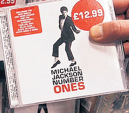 michael jackson number ones cover